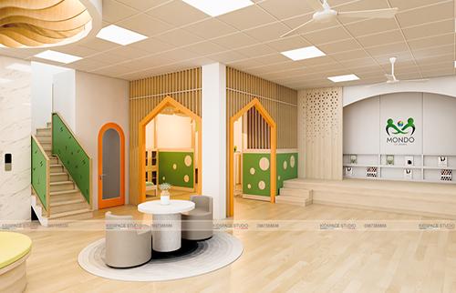 Thiết kế nội thất trường mầm non MONDO – Hoàng Mai
