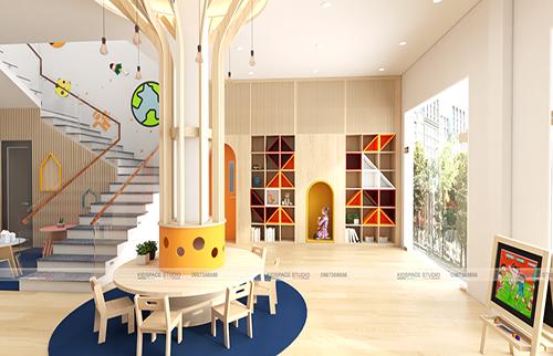 Thiết kế nội thất trường mầm non SMILE KIDS – thành phố Bắc Giang