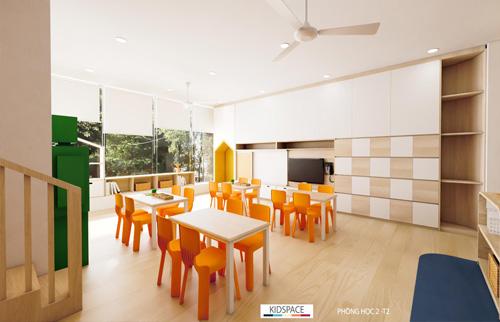 Thiết kế bếp ăn một chiều trường mầm non hợp vệ sinh và an toàn