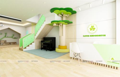 Thiết kế nội thất trường mầm non CỎ BA LÁ