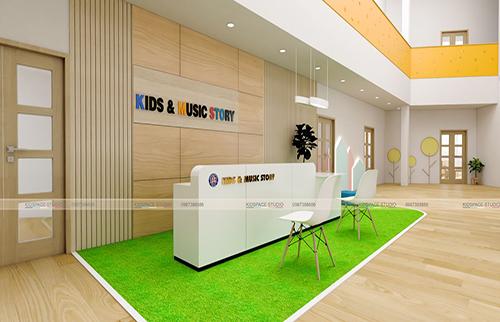 Thiết kế nội thất trường mầm non KIDS & MUSIC STORY