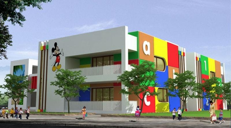Thiết kế trường mầm non tư thục đẹp chuẩn quốc tế