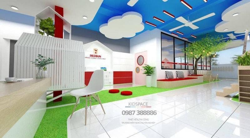 Thiết kế trường mầm non đẹp -RED SUN - Quận Thủ Đức, TP Hồ Chí Minh