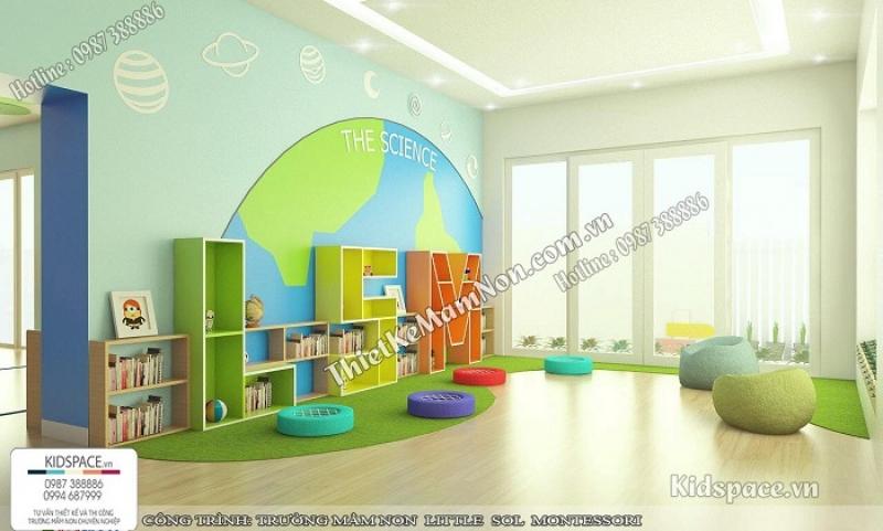 Tiêu chuẩn thiết kế nội thất mầm non, mẫu thiết kế đẹp
