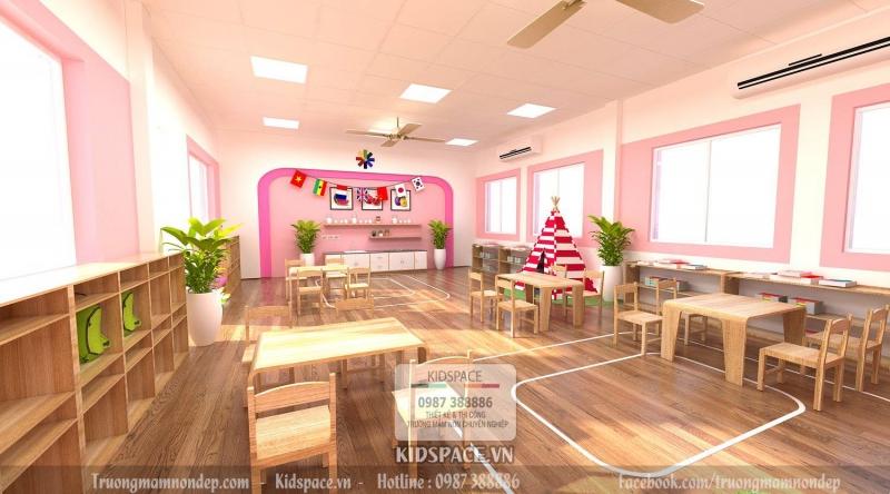 Trang trí nội thất trường mầm non Montessori. Gợi ý các mẫu thiết kế trường mầm non đẹp, hiện đại