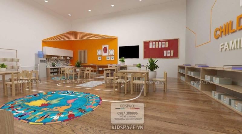 Thiết kế và thi công trọn gói nội thất trường mầm non Montessori giá rẻ